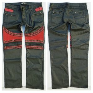 New ROBIN'S JEAN sz 44 THE SHOW Moto Zip Jeans